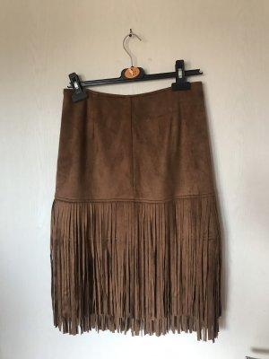 Forever 21 Fringed Skirt brown