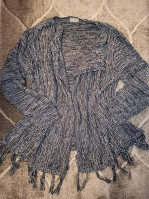 Canda Knitted Wrap Cardigan silver-colored-cornflower blue