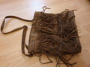 Bolso de flecos marrón Imitación de cuero