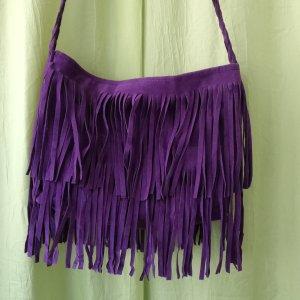 Sac à franges violet