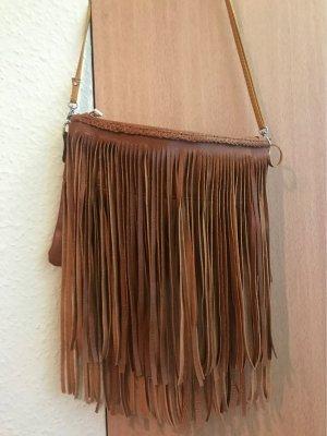 Sac à franges brun