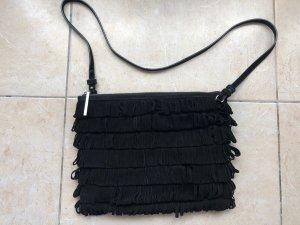 Whistles Bolso de flecos negro-color plata Cuero