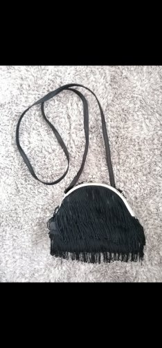 Claires Fringed Bag black-silver-colored