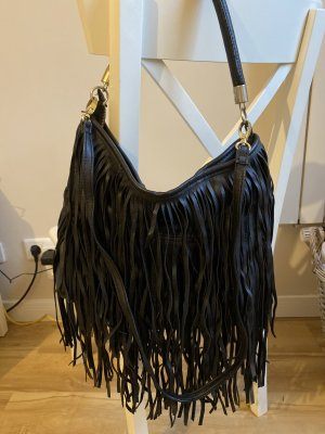 H&M Fringed Bag black-silver-colored