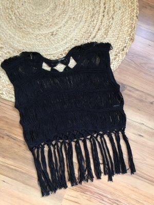 Tally Weijl Crochet Top black