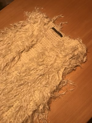 Fringed Vest natural white-cream