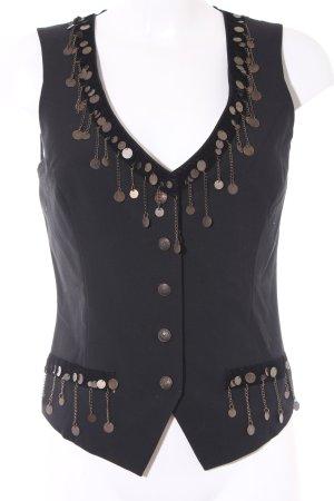 Fringed Vest black extravagant style