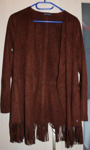 Fransige braune Jacke von Jette Gr. 36