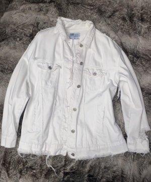 Zara Jeansowa kurtka biały