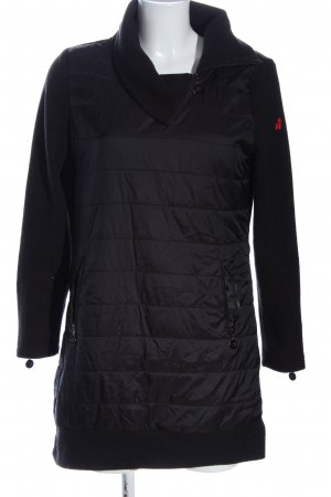 Franstyle Quilted Coat black quilting pattern casual look