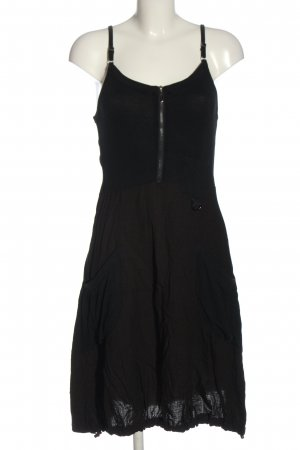 Franstyle Pinafore dress black casual look