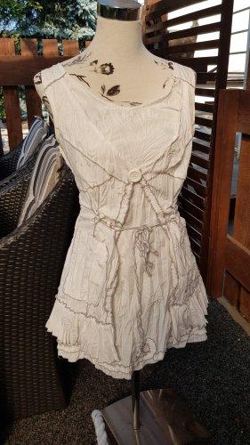 Franstyle Tunic Dress white-light grey