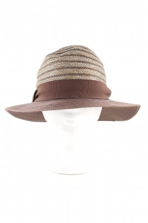 Sun Hat brown-cream graphic pattern casual look