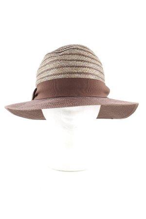 Sombrero de ala ancha nude-marrón look casual