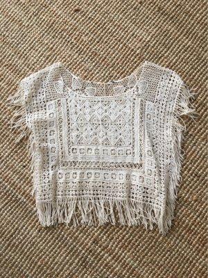 Crochet Shirt natural white-oatmeal