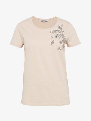 Franziska Knuppe für Bonita: Shirt mit oppulentem Zierstein-Besatz, Zierperlen, Gr. XL