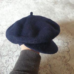 Französische Mütze vintage dunkelblau barrettes