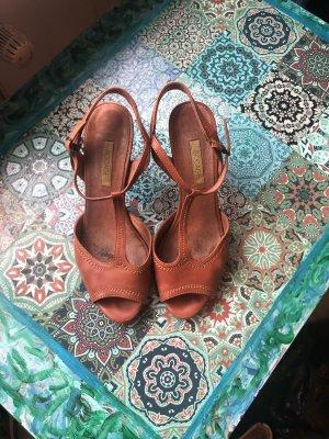 Bocage Strapped High-Heeled Sandals russet