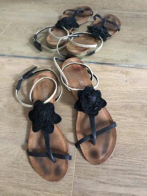 Sandales à lanière multicolore cuir