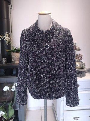 Französischer Chic Übergangsjacke von Oui Gr 38 Cabankjacke Jacke NP 199 € lila schwarz weiß