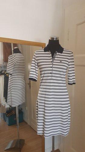 Lacoste Robe Polo blanc-bleu coton