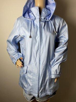 FRANZTEX Manteau à capuche bleu azur tissu mixte