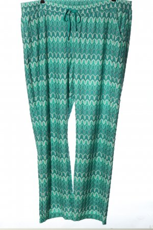 Frapp Baggy Pants turquoise-white allover print casual look