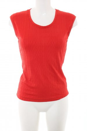 Frapp Tanktop rot grafisches Muster Casual-Look