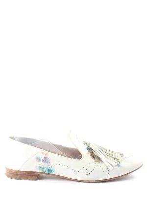 Fratelli rossetti Schlüpfschuhe weiß Blumenmuster Casual-Look