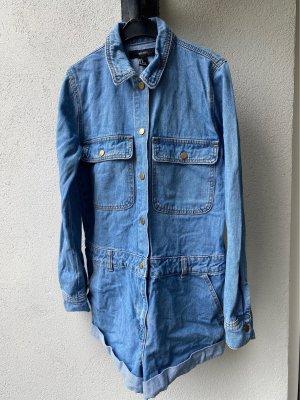 Forever 21 Salopette en jeans bleu azur