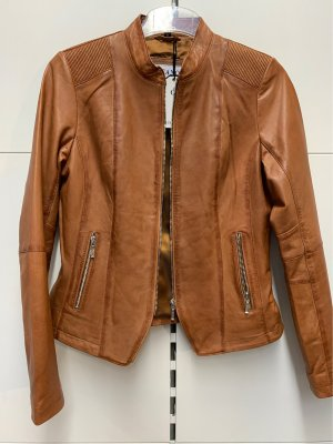 Ricano Leather Jacket cognac-coloured