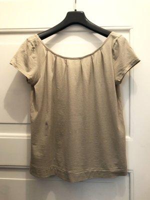 Frauenschuh Baumwoll Top T-Shirt beige