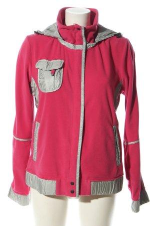 Frauenschuh Fleecejacke pink-hellgrau Casual-Look