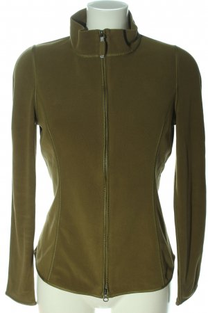Frauenschuh Fleecejacke khaki Casual-Look