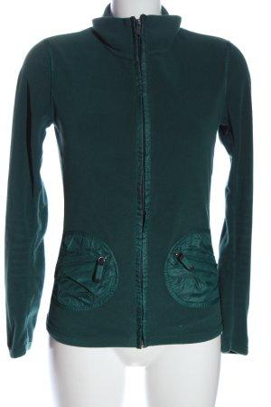 Frauenschuh Fleecejacke grün Casual-Look