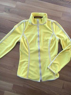 FRAUENSCHUH KITZBÜHEL°Edle Fleece-Jacke°gelb/ beige°Gr. S / 36°NP 199 E°wie neu, kaum getragen