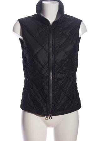 Frauenschuh Gewatteerd vest zwart quilten patroon casual uitstraling