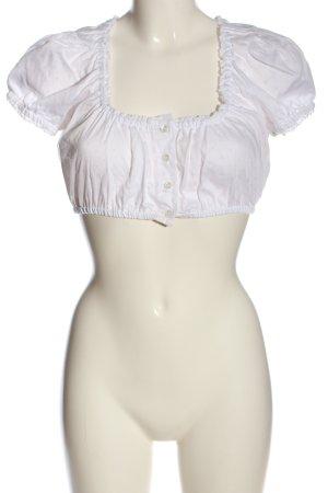 fraulein trentini Blusa tradizionale bianco stile casual