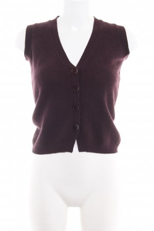 frc cashmere Strickweste braunrot Casual-Look