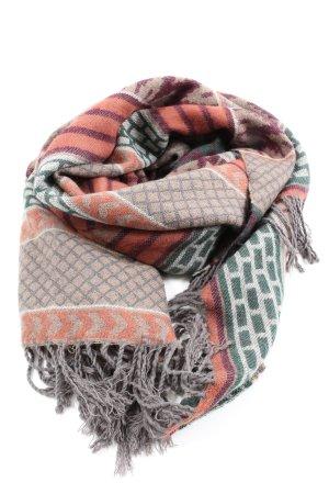 Freak's Store Sjaal met franjes grafisch patroon casual uitstraling