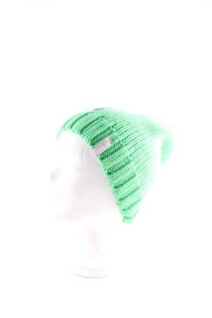 Freaky Heads Strickmütze neongrün-silberfarben extravaganter Stil