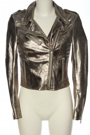 Freaky Nation Lederjacke bronzefarben Casual-Look