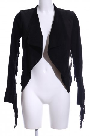 Freaky Nation Lederjacke schwarz Casual-Look