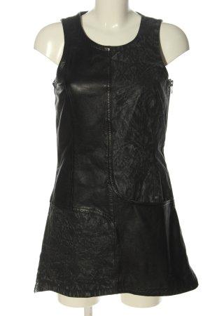 Freaky Nation Vestido de cuero negro estilo extravagante