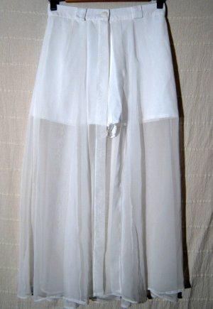 Frech Hot Pants mit langem Rock Größe 36/38 Weiß Schnäppchen Hochzeit Braut Sexy