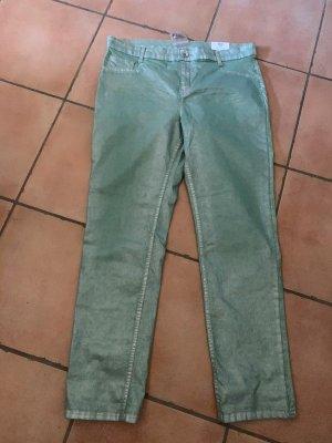 Jeans stretch vert menthe-gris clair