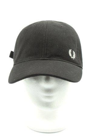 Fred Perry Baseballówka czarny Wyhaftowany logo W stylu casual