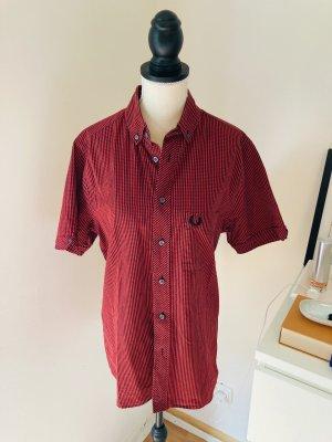 Fred Perry Shirt met korte mouwen zwart-donkerrood