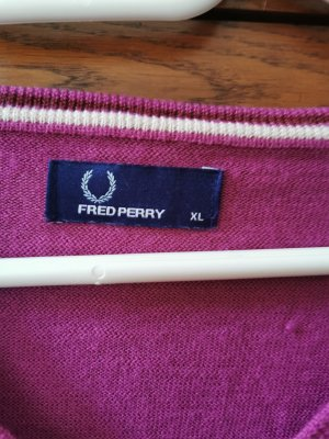 Fred Perry V-Neck Sweater violet