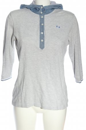 Fred Perry Camicia con cappuccio grigio chiaro-blu puntinato stile casual